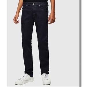Diesel Buster 0607A Tapered Dark Blue Denim Jeans